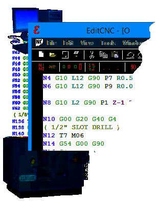EditCNC, g-code file editor and DNC